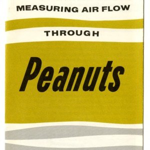 Measuring air flow through peanuts (Extension Folder 192)