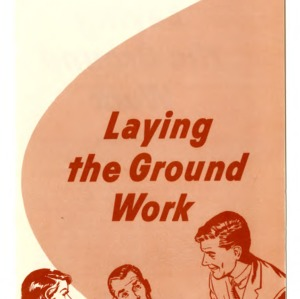 Community development: Laying the groundwork (Extension Folder 201, Reprint)