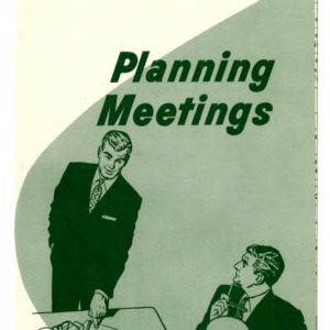 Community development: Planning meetings (Extension Folder 202, Reprint)