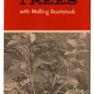 Propagation and culture of dwarf apple trees with malling rootstock (Extension Folder 213)