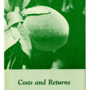 Costs and returns in peach production (Folder 220)