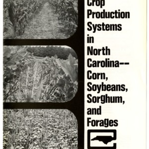 No-till crop production systems in North Carolina -- Corn, soybeans, sorghum and forages (Agricultural Extension Publication 273)