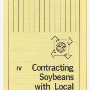 Contracting soybeans with local elevator (Agricultural Extension Publication 285-4, Reprint) (Formerly Leaflet No. 197-IV)
