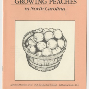 Growing Peaches in North Carolina (AG-30, Revised)