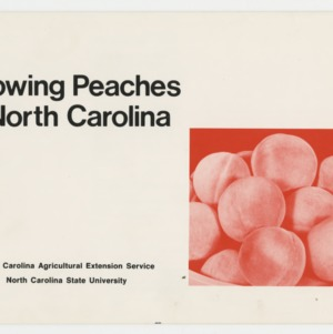 Growing Peaches in North Carolina (AG-30, Reprint)