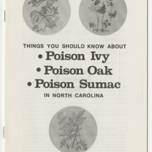 Things you should know about poison ivy, poison oak, and poison sumac in North Carolina (AG-31, Revised)