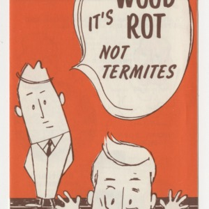 It's wood rot not termites (AG-35, Reprint)