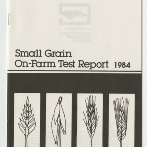 Small grain on-farm test report, 1984 (AG-36, Revised)