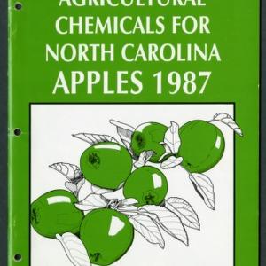 Agricultural chemicals for North Carolina apples 1987 (AG-37, Revised)