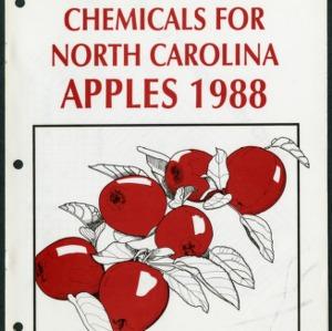 Agricultural chemicals for North Carolina apples 1988 (AG-37, Revised)