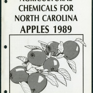 Agricultural chemicals for North Carolina apples 1989 (AG-37, Revised)