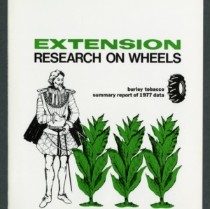 Extension research on wheels; burley tobacco summary report of 1977 data (Extension Publication No. AG-105)
