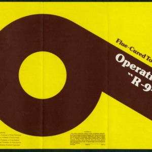 """Flue-cured tobacco: operation """"R-9-P"""" (AG-114, reprint)"""
