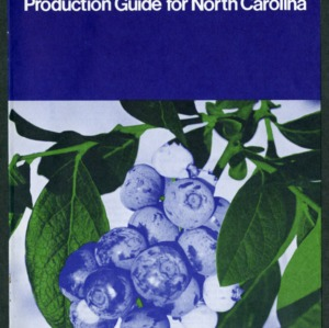Commercial blueberry production guide for North Carolina (AG-115, Reprint)