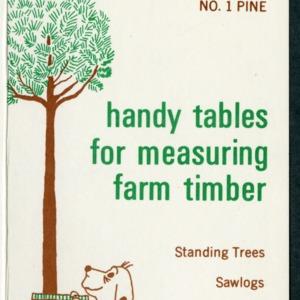 Handy tables for measuring farm timber, No. 1 Pine (AG-119, Reprint)