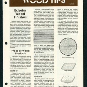 Wood tips no. 2: exterior wood finishes (AG-99-2)