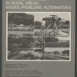 Land Use Planning in Rural Areas: Issues, Problems, Alternatives (CD-3)