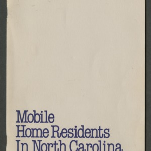 Mobile home residents in north carolina: A sociodemographic profile (CD-09)