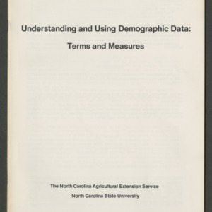 Understanding and using demographic data: terms and measures (CD-12)