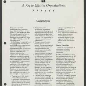 A Key to Effective Organizations 4: Committees (CD-14-F)