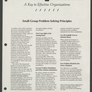 A Key to Effective Organizations 7: Small-Group Problem-Solving Principles (CD-14-I(a))