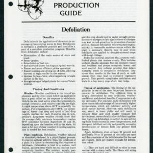 Cotton Production Guide: Defoliation (CPG No.8)