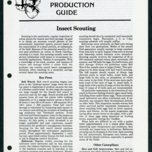 Cotton Production Guide: Insect Scouting (CPG No.13)