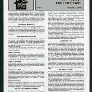 Bankruptcy: The Last Resort (FM-4)