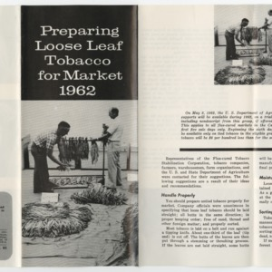 Preparing Loose Leaf Tobacco for Market 1962 (Leaflet No. 82)