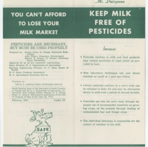 Keep Milk Free of Pesticides (Leaflet No. 107)
