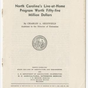 North Carolina's Live at Home Program Worth Fifty-Five Million Dollars (Special Circular)