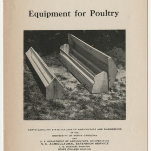 Equipment for Poultry (War Series Extension Bulletin No. 5)