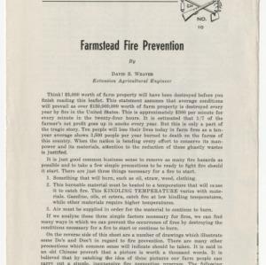 Farmstead Fire Prevention
