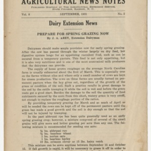 Agricultural News Notes, Volume 8, Number 2