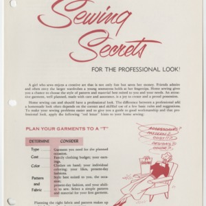 Sewing Secrets for the Professional Look! (Club Series No. 82)