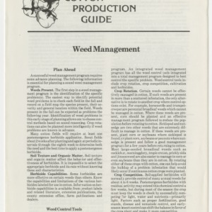 Cotton Production Guide: Weed Management (Cotton Production Guide No. 12)
