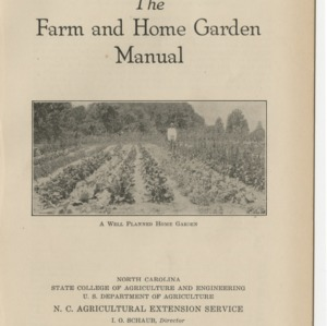 The Farm and Home Garden Manual (Extension Circular No. 122, Revised)
