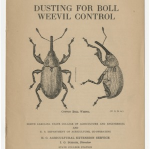 Dusting for boll weevil control (Extension Circular No. 186)