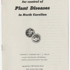 Chemicals for control of Plant Diseases in North Carolina