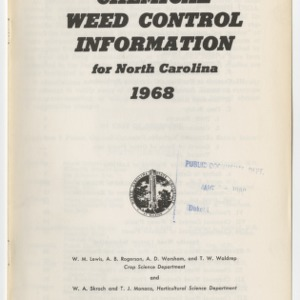 Chemical Weed Contol Information (Leaflet No.  124)