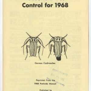 Household Pest Control for 1968 (Leaflet No. 139)