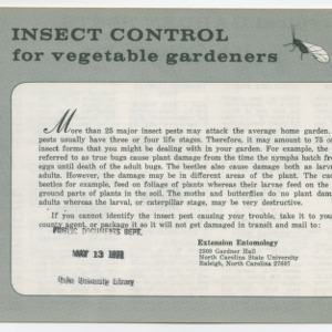 Insect Control for vegetable gardens (Leaflet No. 169)