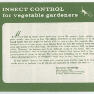 Insect Control for vegetable gardens (Leaflet No. 177)