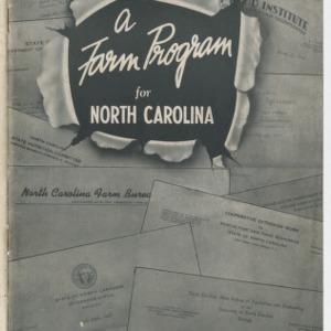 A Farm Program for North Carolina