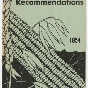 Fertilizer Recommendations 1954