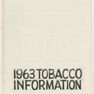 1963 Tobacco Information