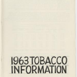 1963 Tobacco Information