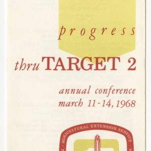 Progress thru Target 2: Annual Conference March 11-14, 1968
