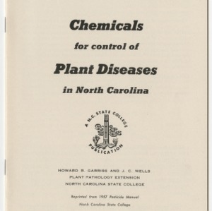 Chemicals for Control of Plant Diseases in North Carolina 1957