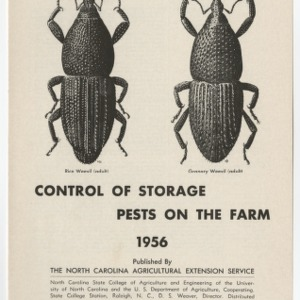 Control of Storage Pests on the Farm 1956
